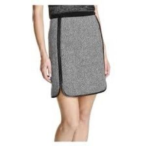 Joe fresh pleather trim mini skirt tweed